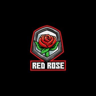 Logo de mariage romantique jardin de roses rouges
