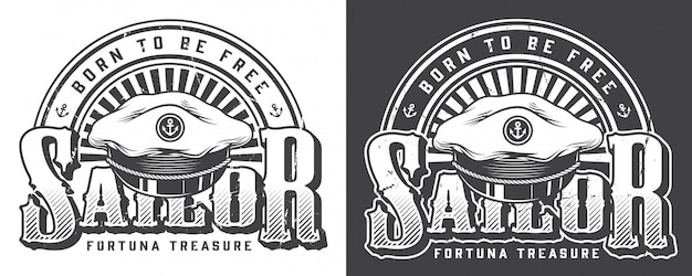 Logo marin et nautique vintage