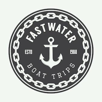 Logo marine vintage