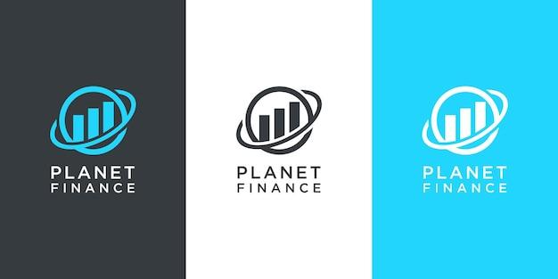 Logo de marketing de finance de planète