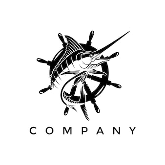 Logo marlin fish