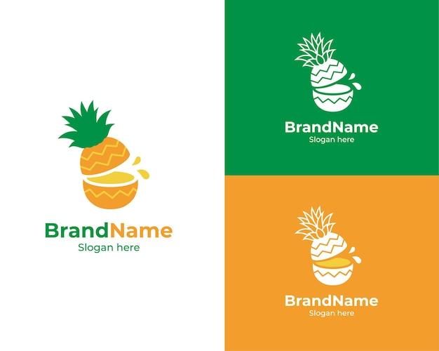Logo de la marque d'ananas coupé