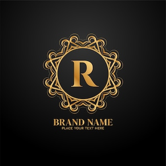 Logo de la marque de luxe lettre r