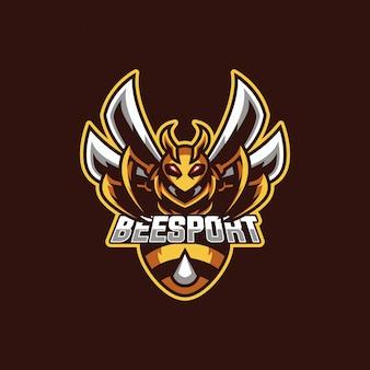 Logo de mascotte d'abeille