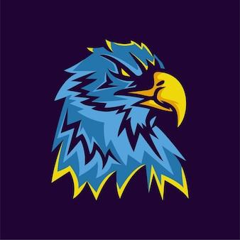 Logo de mascotte aigle moderne