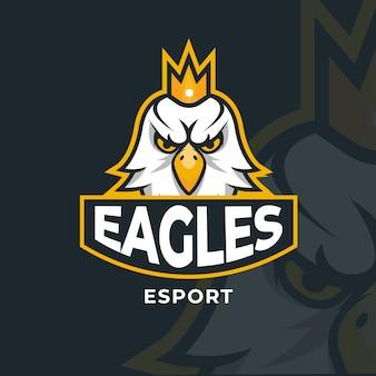 Logo mascotte avec aigle