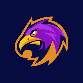 Logo de mascotte d'aigle