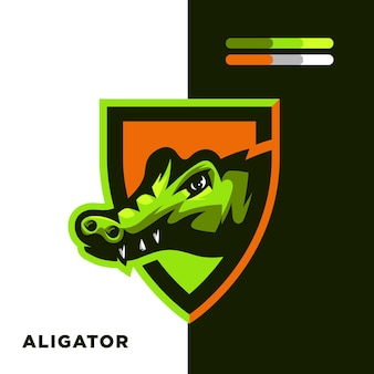 Logo de mascotte d'alligator