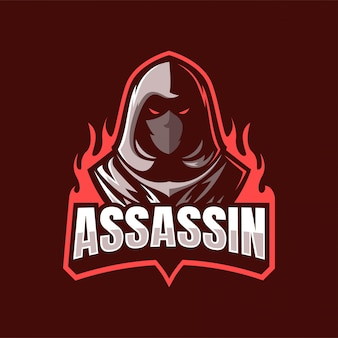 Logo mascotte assassin ninja