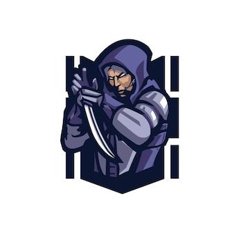 Logo mascotte assassin