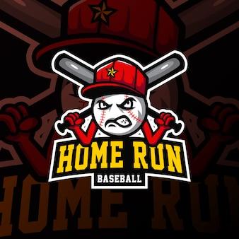 Logo de mascotte de baseball illustration de jeu esport