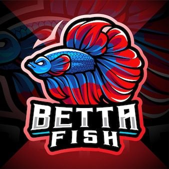 Logo de la mascotte betta fish esport