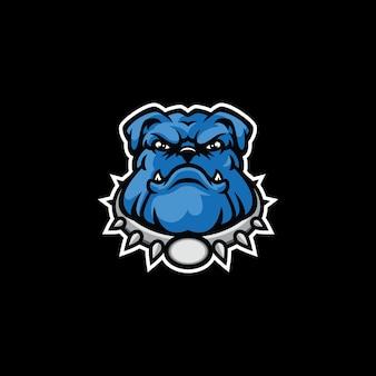 Logo de mascotte de bouledogue