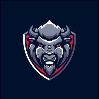 Logo de la mascotte buffalo