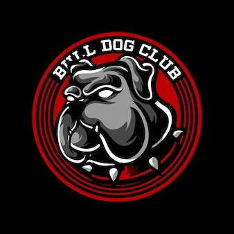 Logo de mascotte bull dog club