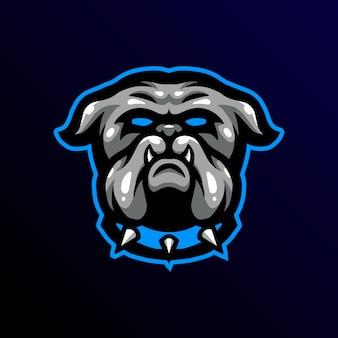 Logo de mascotte bulldog gaming esport
