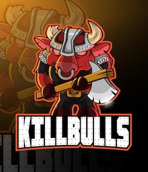 Logo mascotte bulls esport
