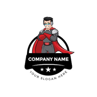 Logo de mascotte captain hero