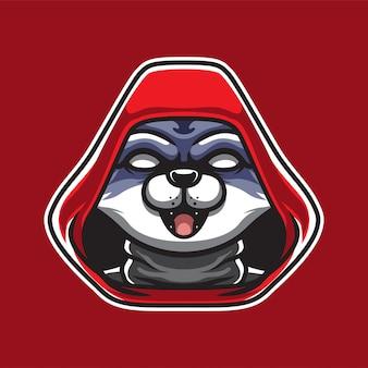 Logo de mascotte de chat assassins