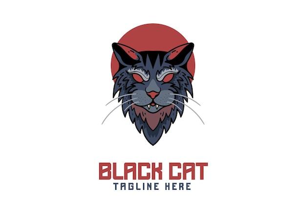Logo de mascotte de chat
