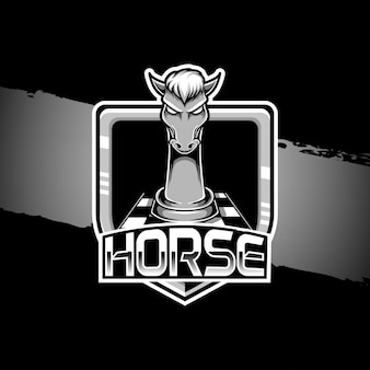 Logo de mascotte de cheval