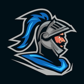 Logo de mascotte chevalier guerrier