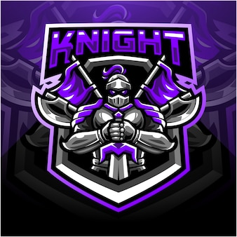 Logo de mascotte de chevalier sport
