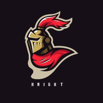 Logo de mascotte de chevalier