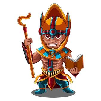 Logo mascotte chibi osiris