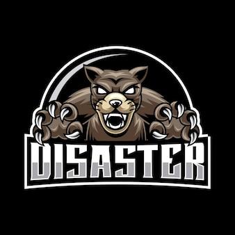 Logo de mascotte de chien en colère