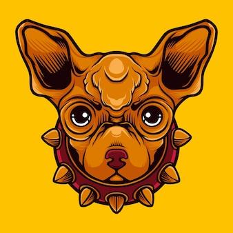 Logo de mascotte de chien mignon vecteur premium