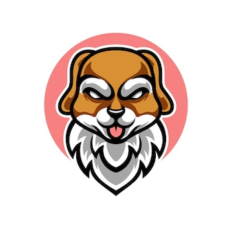 Logo de mascotte de chien mignon