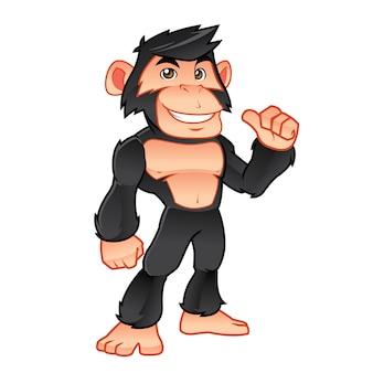 Logo de mascotte de chimpanzé