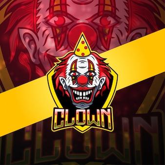 Logo mascotte clown esport