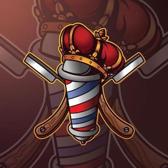 Logo de mascotte de coiffeur
