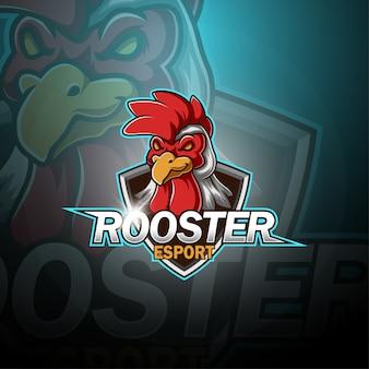 Logo mascotte coq esport