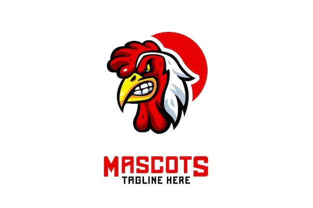 Logo de mascotte de coq