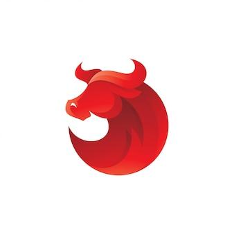 Logo de mascotte de corne de taureau