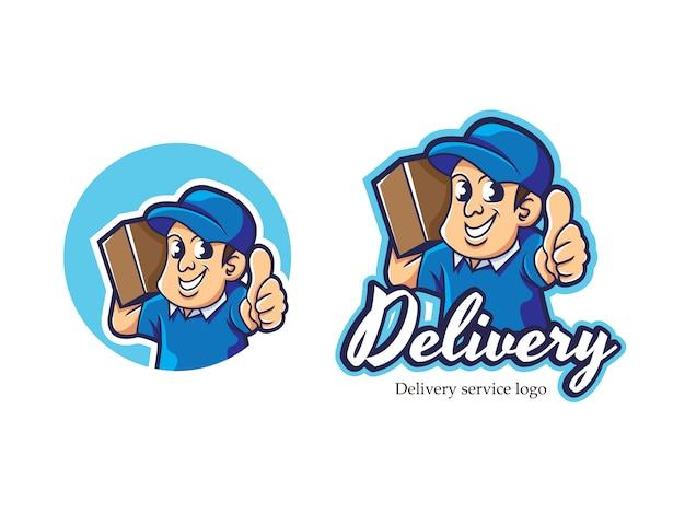 Logo mascotte courier