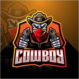 Logo de mascotte de cow-boy