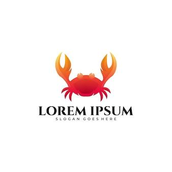 Logo mascotte crabe dégradé coloré