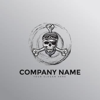 Logo mascotte crâne