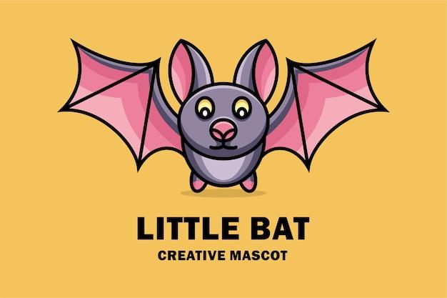 Logo de mascotte créative petite chauve-souris