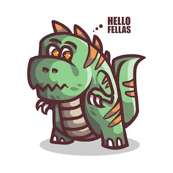 Logo mascotte de crocodile