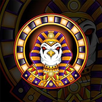 Logo de mascotte de dieu égyptien ra