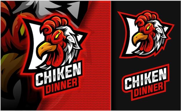Logo de mascotte de dîner de poulet