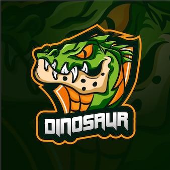 Logo de mascotte de dinosaure