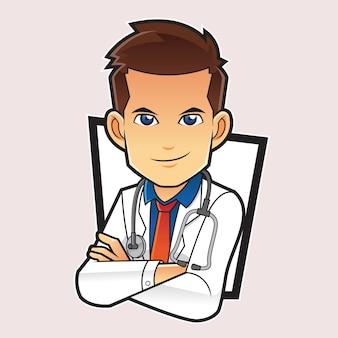 Logo mascotte docteur