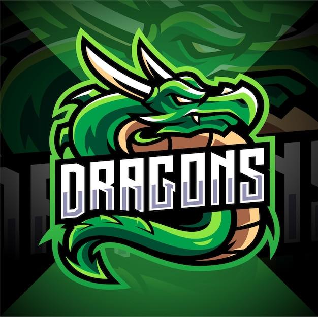Logo de la mascotte dragon esport