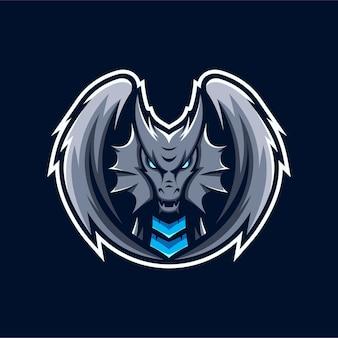 Logo de mascotte de dragon